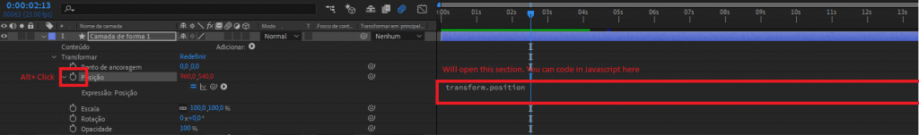Opening the After Effects Script Screen